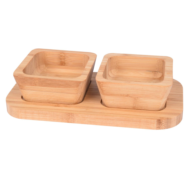 صينية خشبية مع بوادي 3 قطعة 561054