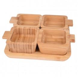 صينية خشبية مع بوادي  5 قطعة 561062