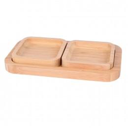 صينية خشبية مع بوادي 3 قطعة  561064