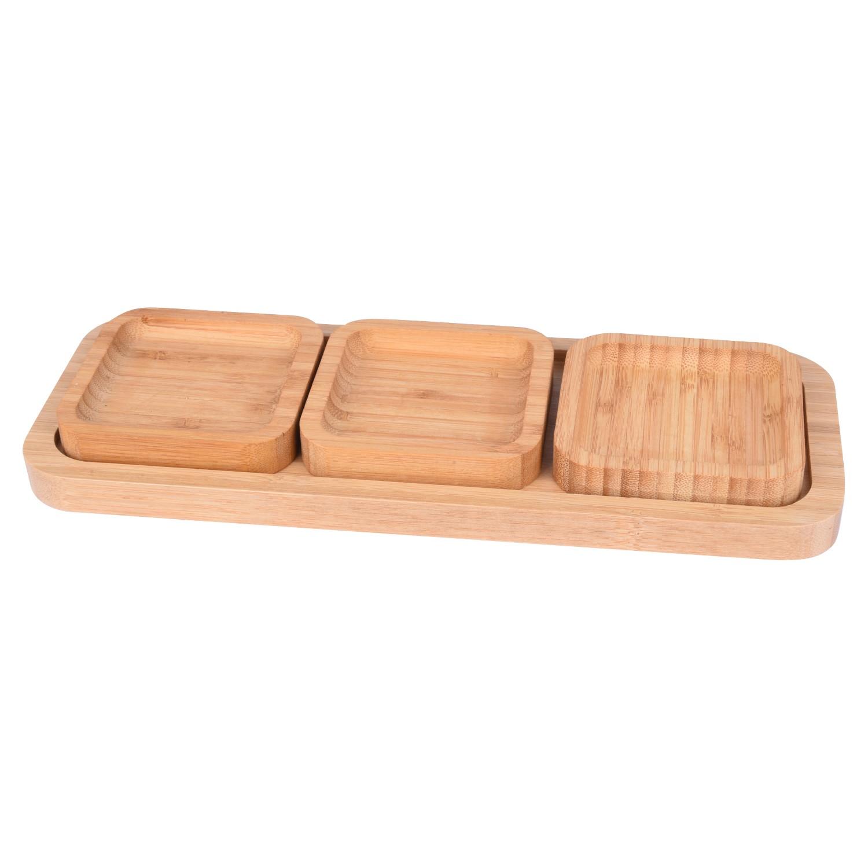 صينية خشبية مع بوادي 4 قطعة 561065