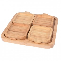 صينية خشبية مع بوادي 5 قطعة  561073
