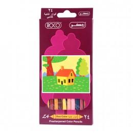 طقم الوان خشبية 24 لون روكو 19009D24