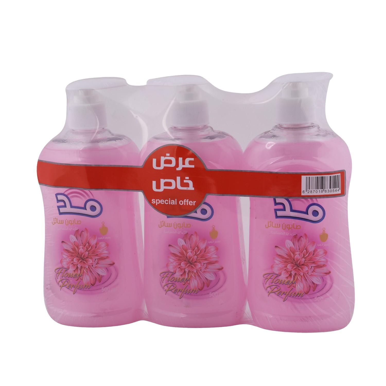 صابون يدين الزهور500 مل 3 حبة 830285