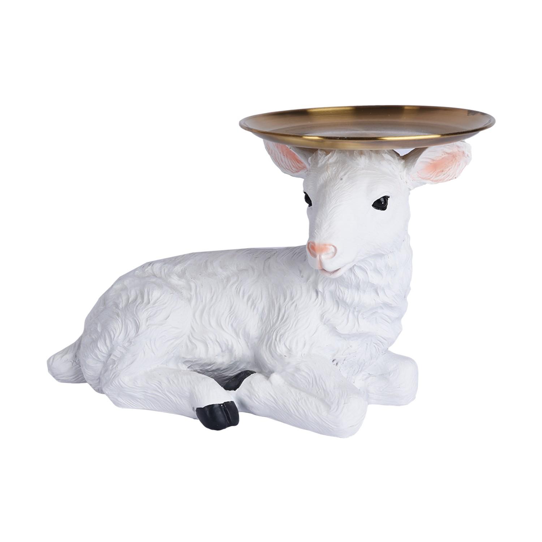 خروف تحفة بصحن دائري B2021058