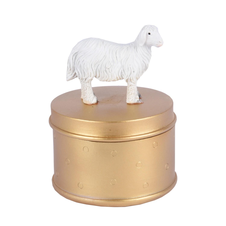 علبة مجسم جبس شكل خروف