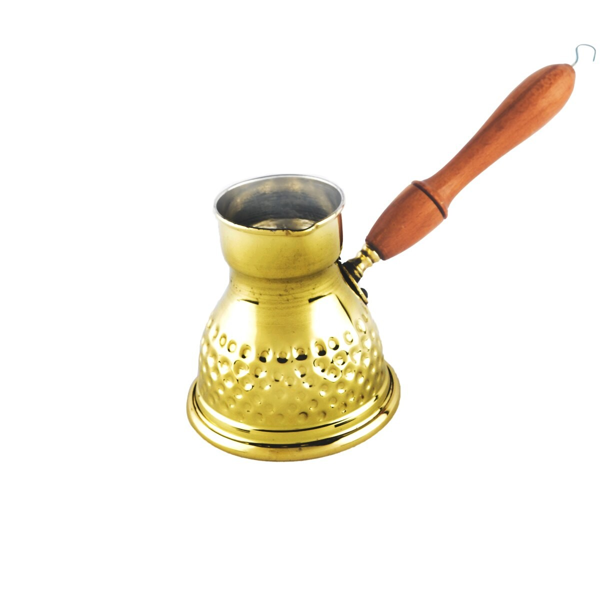 ركوة للقهوة التركية النحاس وسط 200مل صغير منقوش
