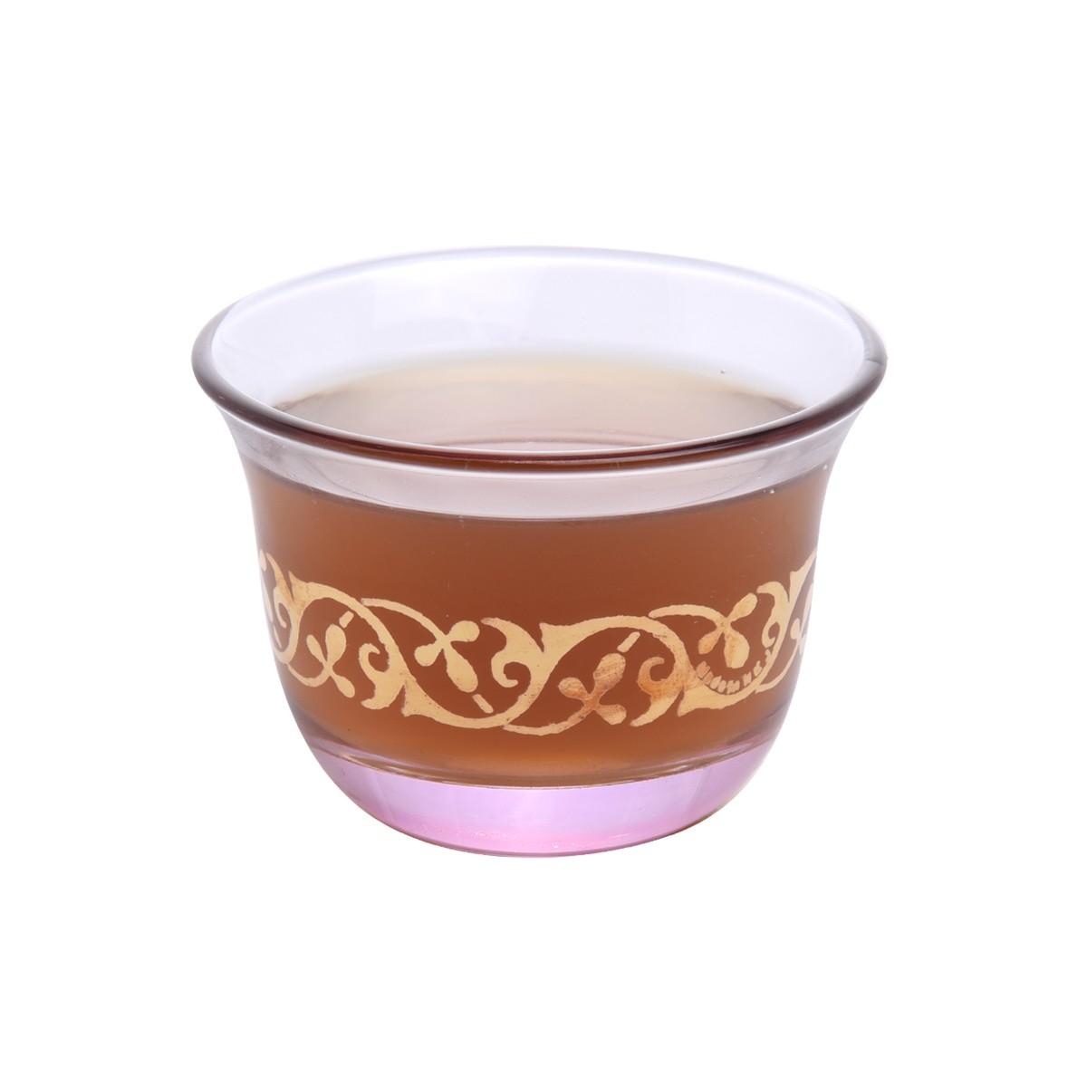 طقم فناجين قهوة زجاج مذهب 6 قطعة DJ-33178