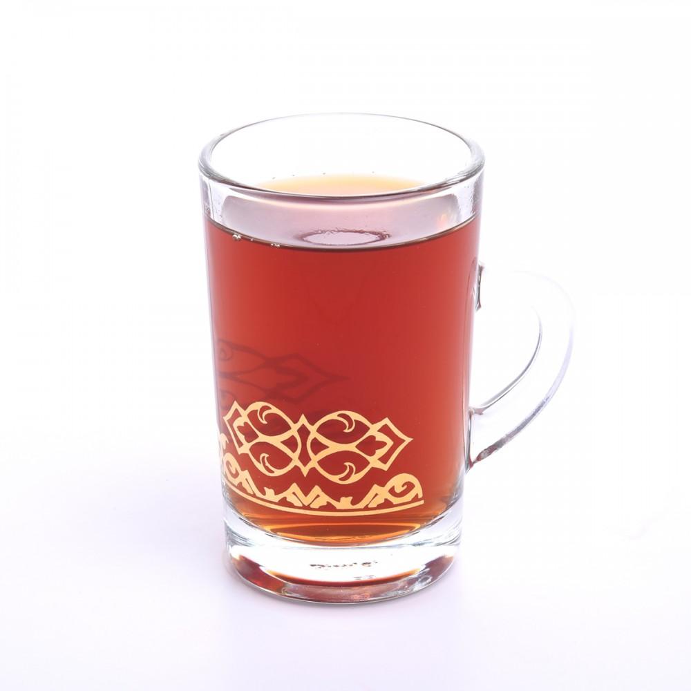 طقم كاسة شاي بيد مذهب 6 قطعة D-41795