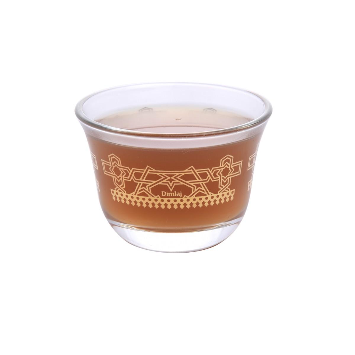طقم فناجين قهوة زجاج مذهب 6 قطعة DJ-41920