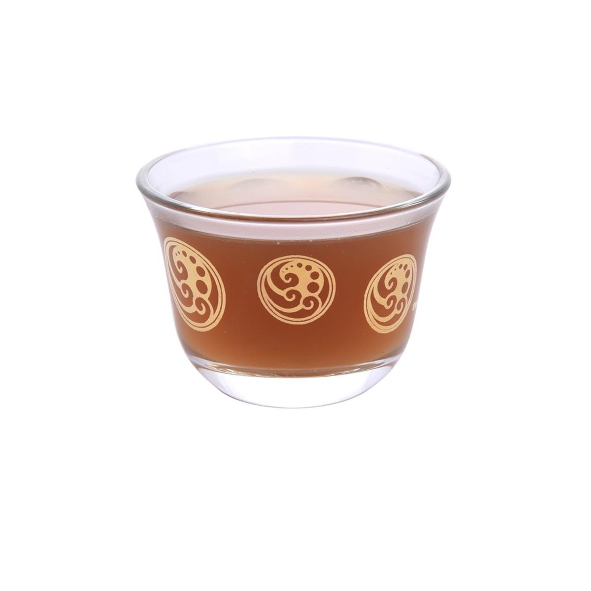 طقم فناجين قهوة زجاج مذهب 6 قطعة DJ-42212