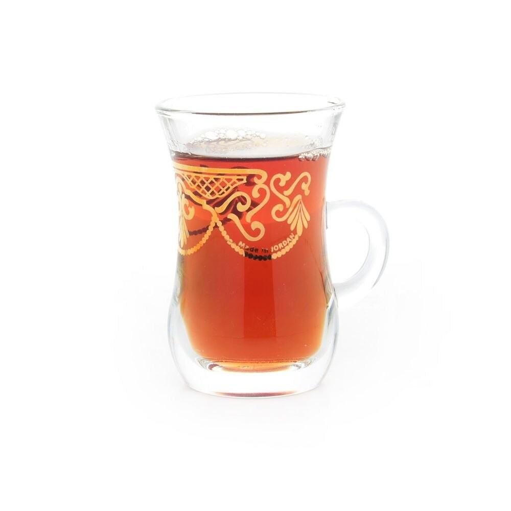 اكواب شاي ذهبي 6 قطع DJ-42622
