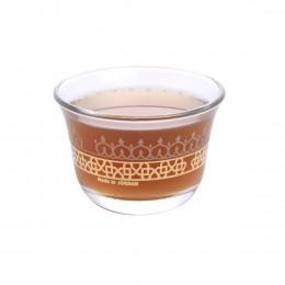 طقم فناجين قهوة زجاج مذهب 6 قطعة DJ-42884