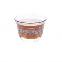 طقم فناجين قهوة زجاج مذهب 6 قطعة DJ-43021