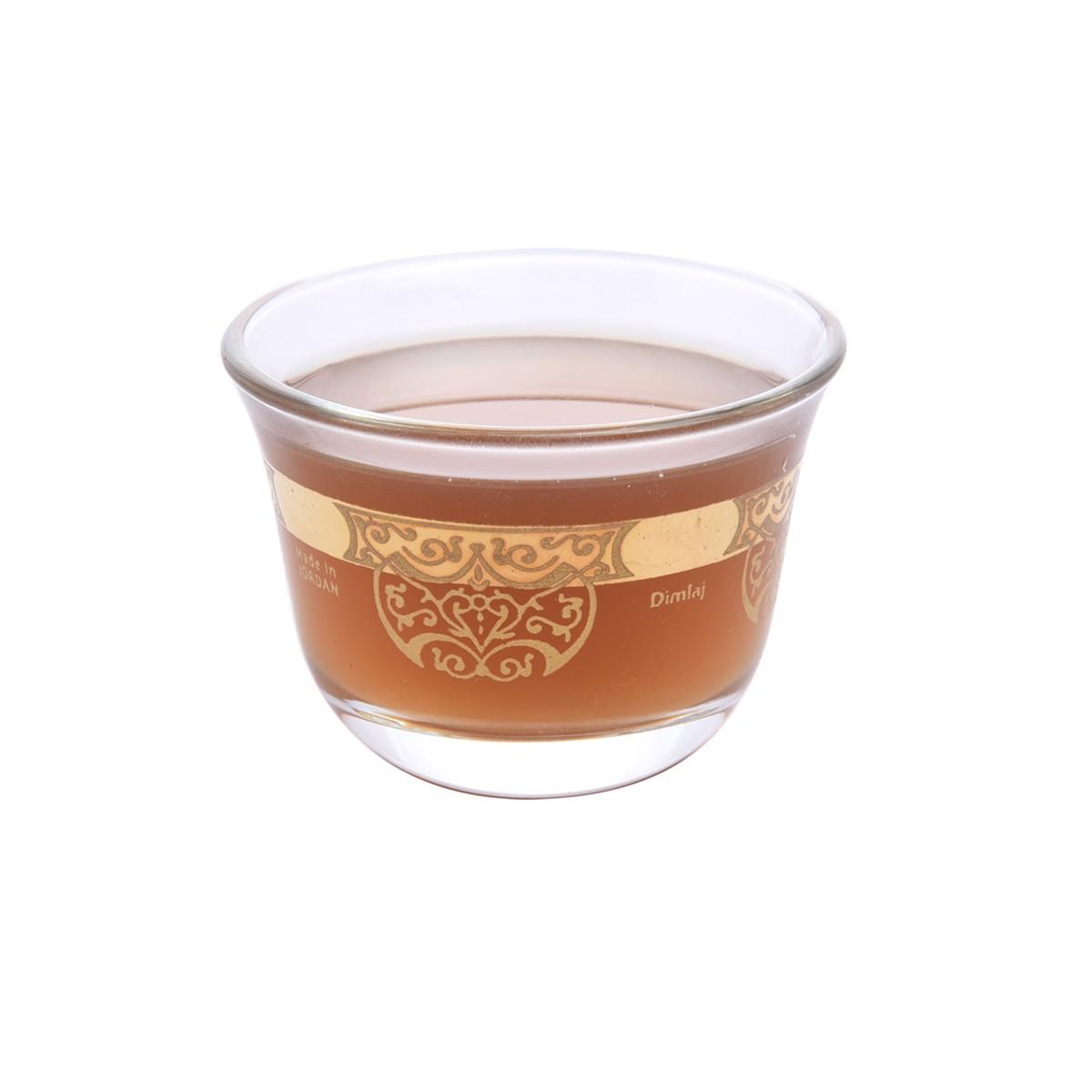 طقم فناجين قهوة زجاج مذهب 6 قطعة DJ-43366