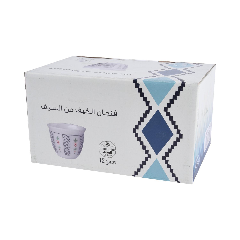 طقم فنجان الكيف اركوبال فضي ١٢ قطعة  5167