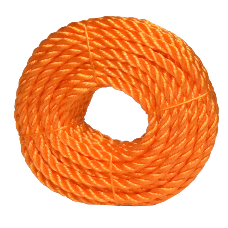 حبل مقاس 8 مل لون برتقالي