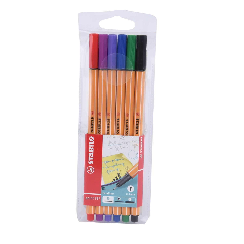 ستبيلو بوينت قلم 6لون  09-3055