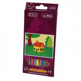 طقم الوان خشبية 12 لون روكو 19009D12