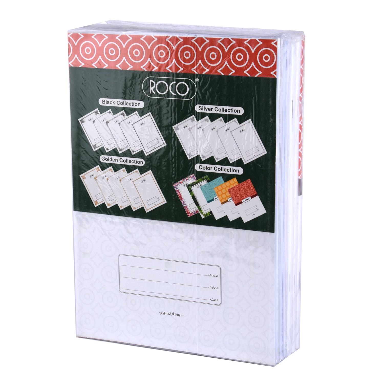 دفاتر روكو سلك 100ورقة انجليزي 6  قطعة  10374