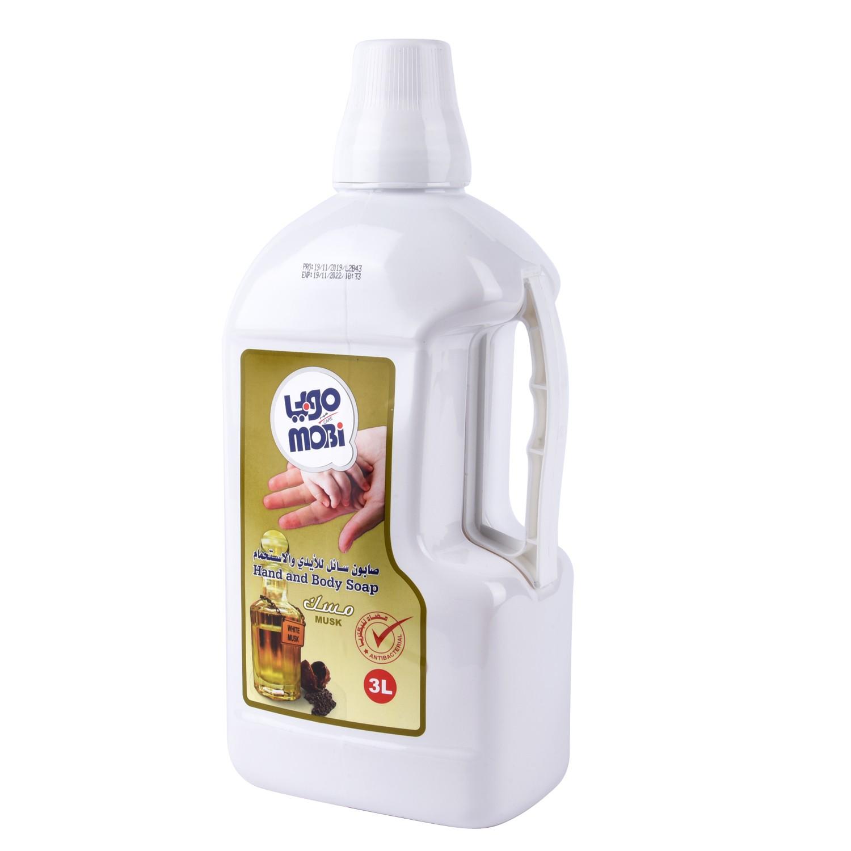 موبي صابون سائل للأيدي والاستحمام 3 لتر برائحة المسك