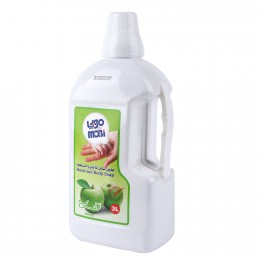 موبي صابون سائل للأيدي والاستحمام 3 لتر برائحة التفاح