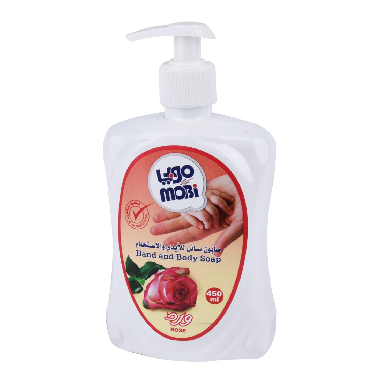 موبي صابون سائل للأيدي برائحة الورد ، 450 مل
