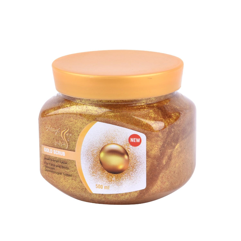 العرايس سنفرة للوجة والجسم بالذهب 500 مل