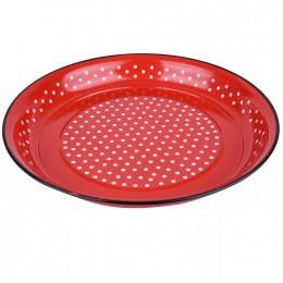 تبسي تقديم لون احمر منقط مقاس 35 سم