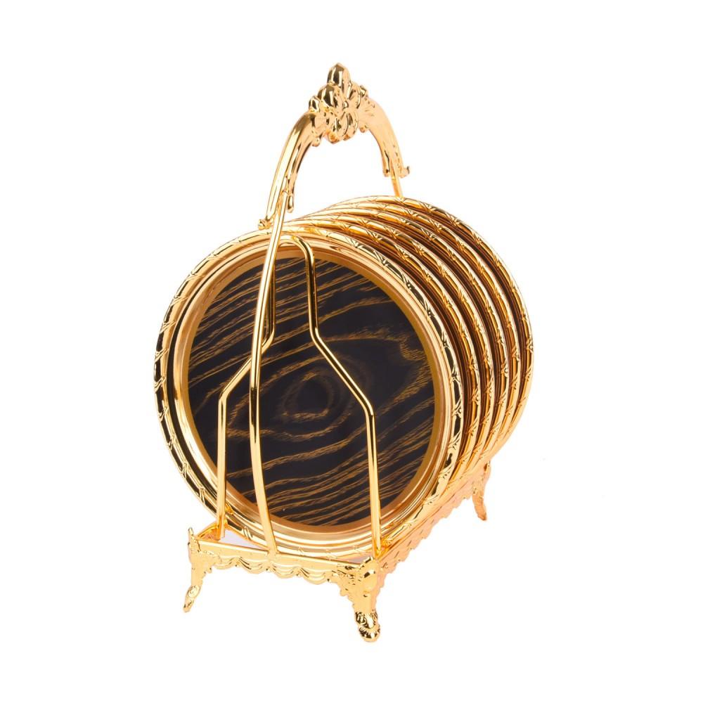 مجموعة صحون ذهبي مع استاند ٦ صحن 9000252