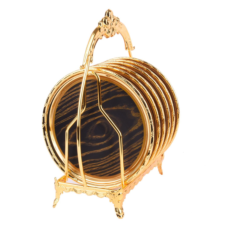مجموعة صحون ذهبي مع استاند ٦ صحن 9000258