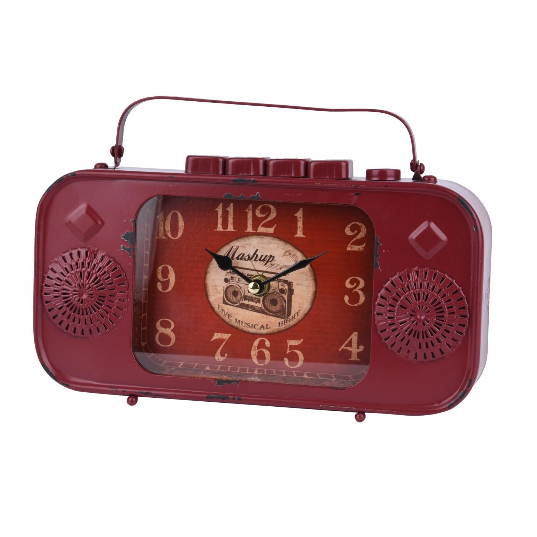 تحفة ساعة شكل مسجل قديم ستيل احمر 98325