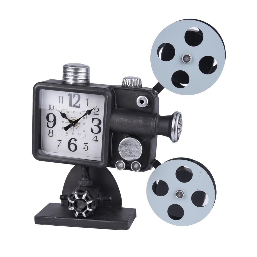تحفة ساعة شكل كاميرا قديمة اسود  98333