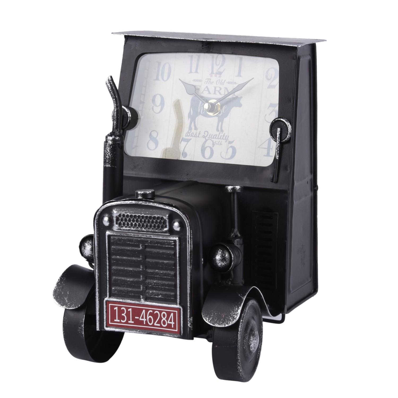 تحفة ساعة بشكل راس شاحنة ستيل اسود  98322