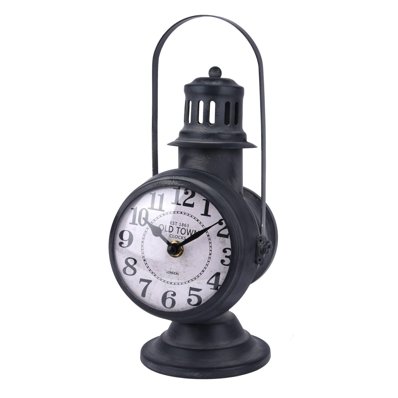 تحفة ساعة  بشكل فانوس ستيل بحامل 98324